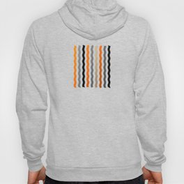 Vertical Waves - Metallic Gold, Silver and Black Vertical Wavy Stripes Hoody