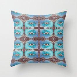 Bird Song Pattern Throw Pillow