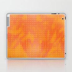 Orange Spirograph Laptop & iPad Skin