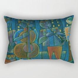 Jazz Time Late Night Jam Rectangular Pillow