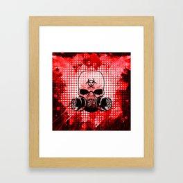 Guerrilla Bio-Hazard Warrior Framed Art Print