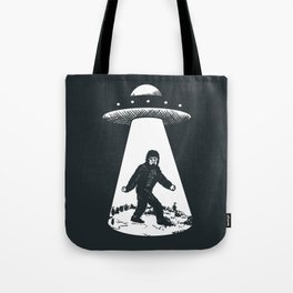 Bigfoot abducted by UFO Tote Bag