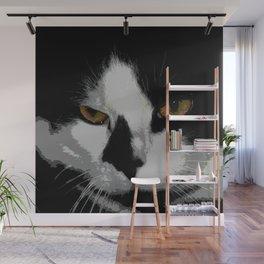 Black white cat II Wall Mural