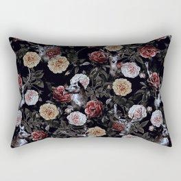 Deers and Flowers Rectangular Pillow