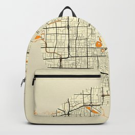 Beijing Map Moon Backpack