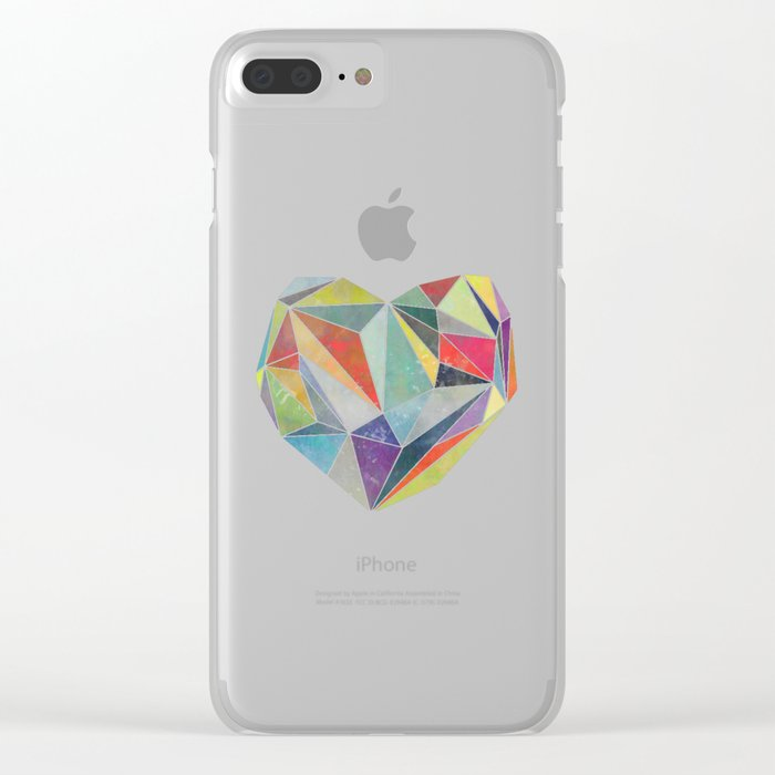Heart Graphic 5 Clear iPhone Case