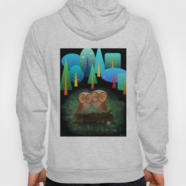 Owl Pals In The Forest Hoody