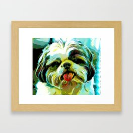 The SCHITZU from our POP YOUR POOCH line Framed Art Print