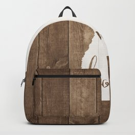 New Hampshire is Home - White on Wood Backpack