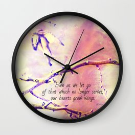 Growing Wings Wall Clock