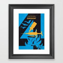 No727 My DIVERGENT minimal movie poster Framed Art Print