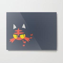 PKMN Litten Metal Print