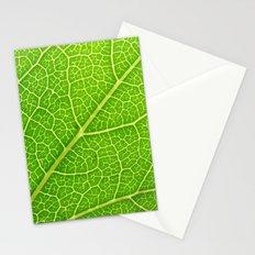 Green Leaf Veins 04 Stationery Cards