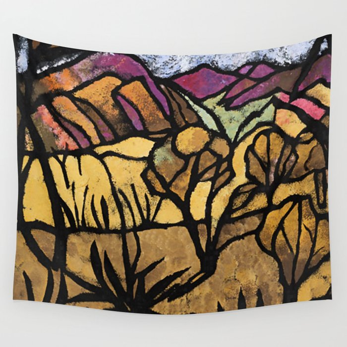 a mile out of alice spings margaret preston wall tapestry by