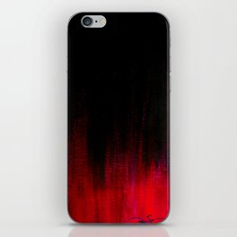 Red and Black Abstract iPhone Skin