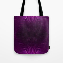 Amethyst Medallion Fractal Abstract Tote Bag