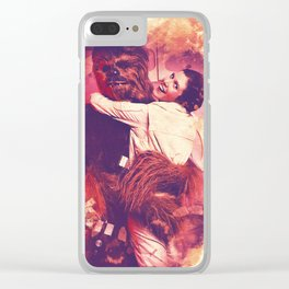 Princess Leia and Chewie Clear iPhone Case