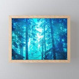 Blue Frost Woods Framed Mini Art Print