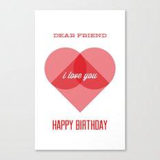 Birthday Wishes for My Dearest Friend Canvas Print