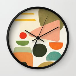 Modern Abstract Art 71 Wall Clock