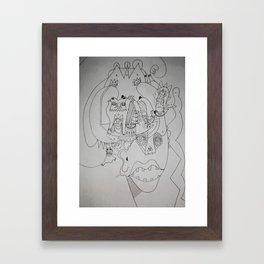 swimming band Framed Art Print