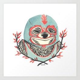 LuchaSloth Art Print