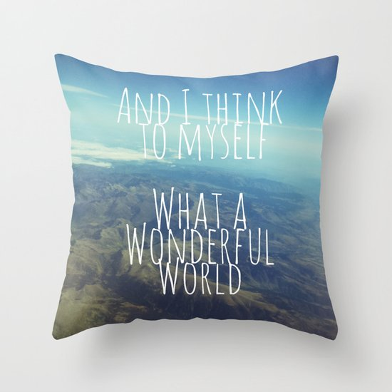 And I Think To Myself... Throw Pillow