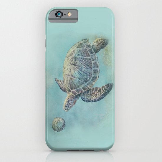 A Curious Friend (sea turtle variation) iPhone & iPod Case