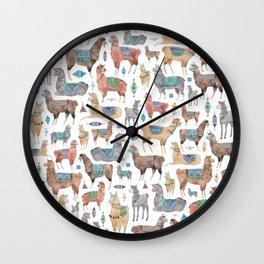 Llamas and Alpacas Wall Clock