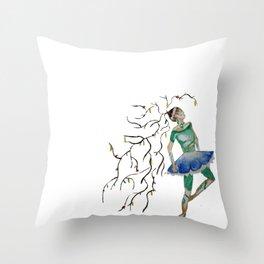 dancing nature Throw Pillow