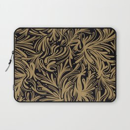 black & Gold Print Pattern Phone Case Laptop Sleeve