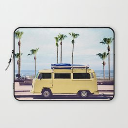 Surfer's Yellow Van Laptop Sleeve