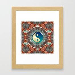 Bohemian Batik Yin Yang Framed Art Print