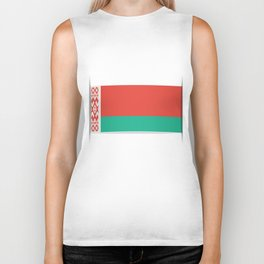 Flag of Belarus.  The slit in the paper with shadows.  Biker Tank