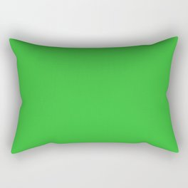 Grass Green Rectangular Pillow