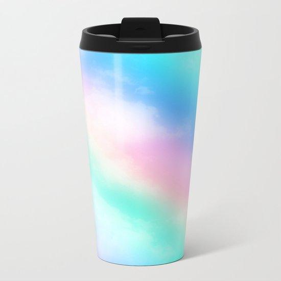 Rainbow Pastel Metal Travel Mug