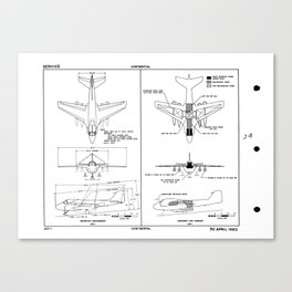 Grumman A2F-1 / A-6 Intruder Schematic Canvas Print