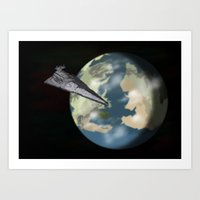 westeros Art Prints featuring Entering Orbit  by Astralview