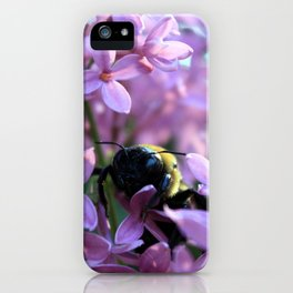 Busy Bee in Lilac Art Photography iPhone Case