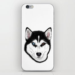 Husky different eyes iPhone Skin