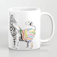 zebra Mugs featuring Zebra by gunberk