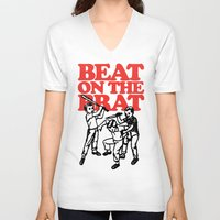 ramones V-neck T-shirts featuring Beat on the Brat by Sellergren Design - Art is the Enemy