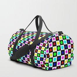 Regular Polygons on Chessboard 36x36 Duffle Bag