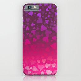 Purple Pink Hearts iPhone Case