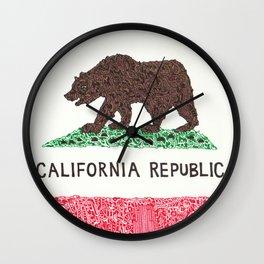 The California Republic Wall Clock