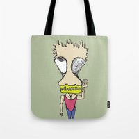 muscle Tote Bags featuring Muscle Man by choifeelsun
