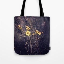 Yellow Desert Flowers Tote Bag
