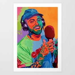 Mac Miller Art Canvas Poster-Mac Miller Casino Chips & Cards Art Canvas Printed Picture Wall Art Decoration POSTER or CANVAS READY Art Print