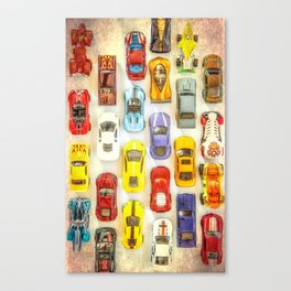 Vintage Toy Cars Canvas Print