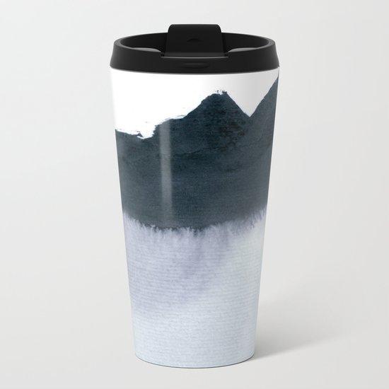 mountain scape minimal Metal Travel Mug